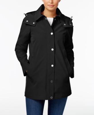 CALVIN KLEIN Calvin Klein Hooded A-Line Raincoat. #calvinklein #cloth # jackets