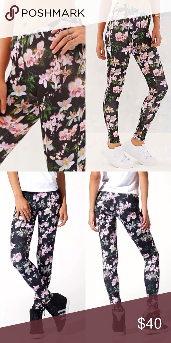 61a2451310e6c Adidas Originals Orchid Floral Full Length Legging Stretch leggings  All-over orchids print Elastic waistband Lightweight for comfort FIT:  Stretch fit ...