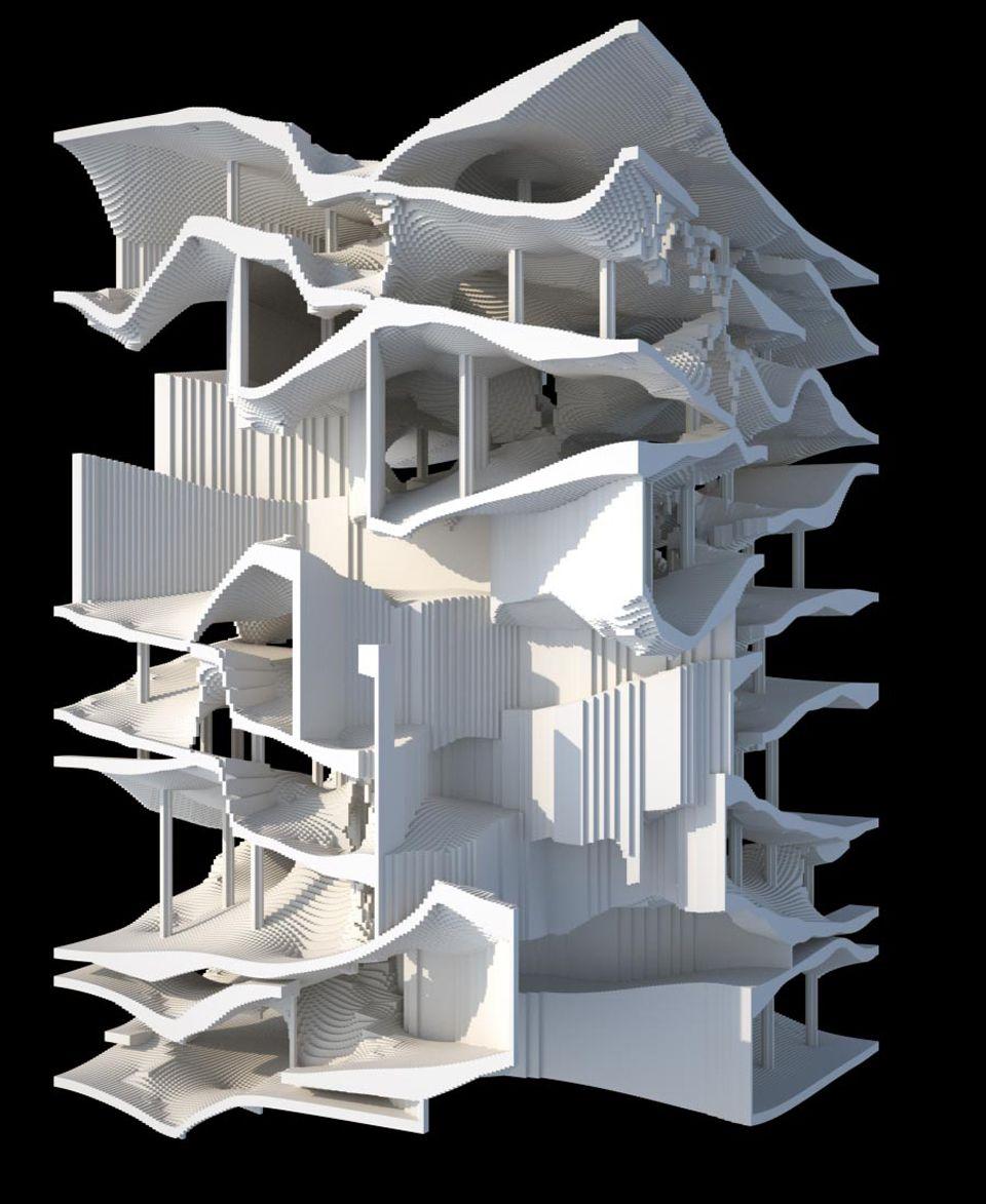 Oblique circulation benjamin dillenburger architecturish for Architecture oblique