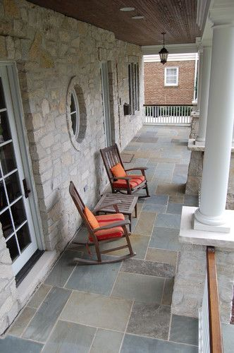 Exterior Traditional Porch With Slate Traditional Porch House