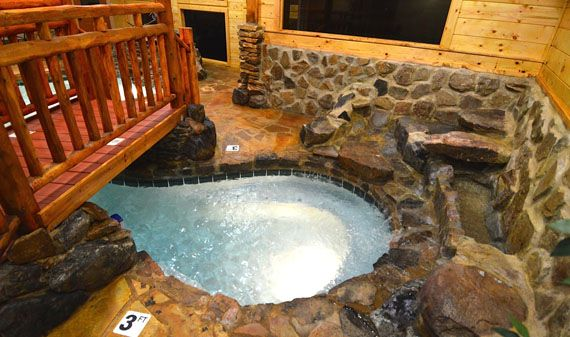 Copper River, Pigeon Forge, TN Indoor Heated Pool, Two Waterfalls, Luxury  Cabins In Gatlinburg And Pigeon Forge TN | VACATION DREAMS | Pinterest |  Pigeon ...