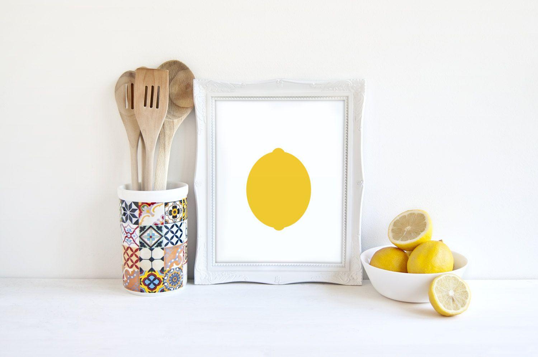 Lemon print nursery decor kids room art kitchen decor kitchen art modern art digital print yellow lemon fruit