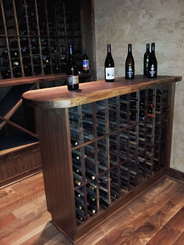 Converted Crawlspace To Wine Room And Storage Wine Table Wine