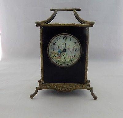 19th Century French Chinoiserie Design Alarm Clock By U Jaz Not Running In Collectibles Clocks Antique Pre 1930 Ebay Clock Mantel Clocks Vintage Clock