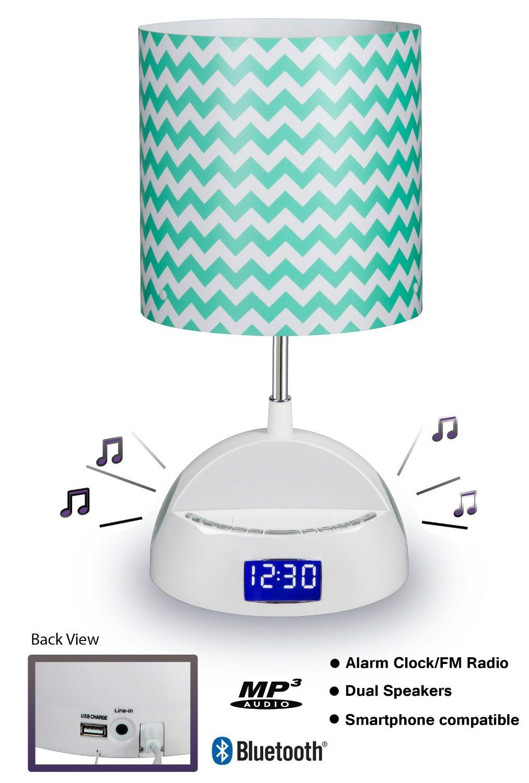 Lamp Bluetooth Speaker Alarm Clock Fm Radio And Usb