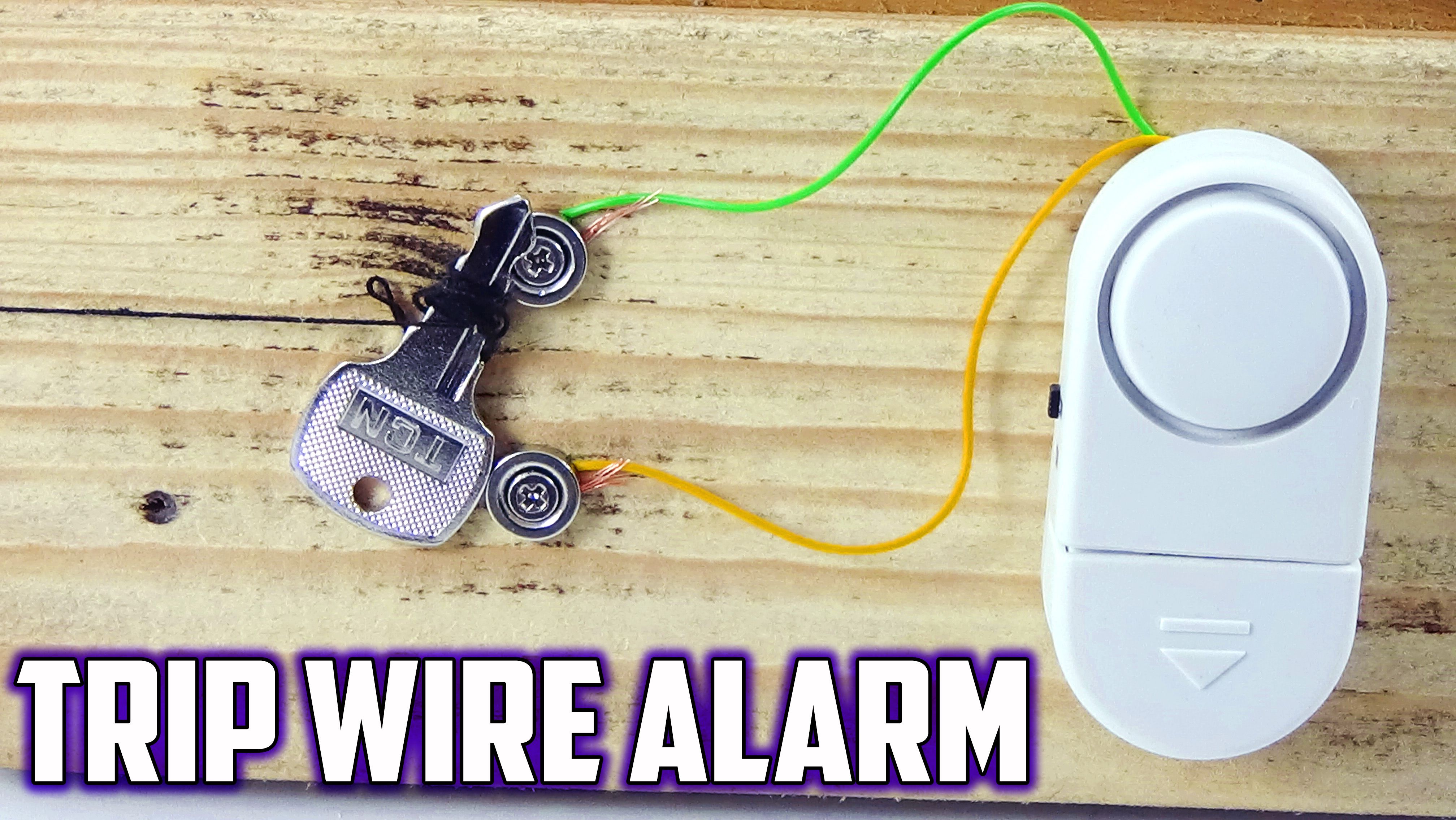 DIY TRIP WIRE ALARM WITH NEODYMIUM MAGNETS | DIY FUNNY PROJECTS ...