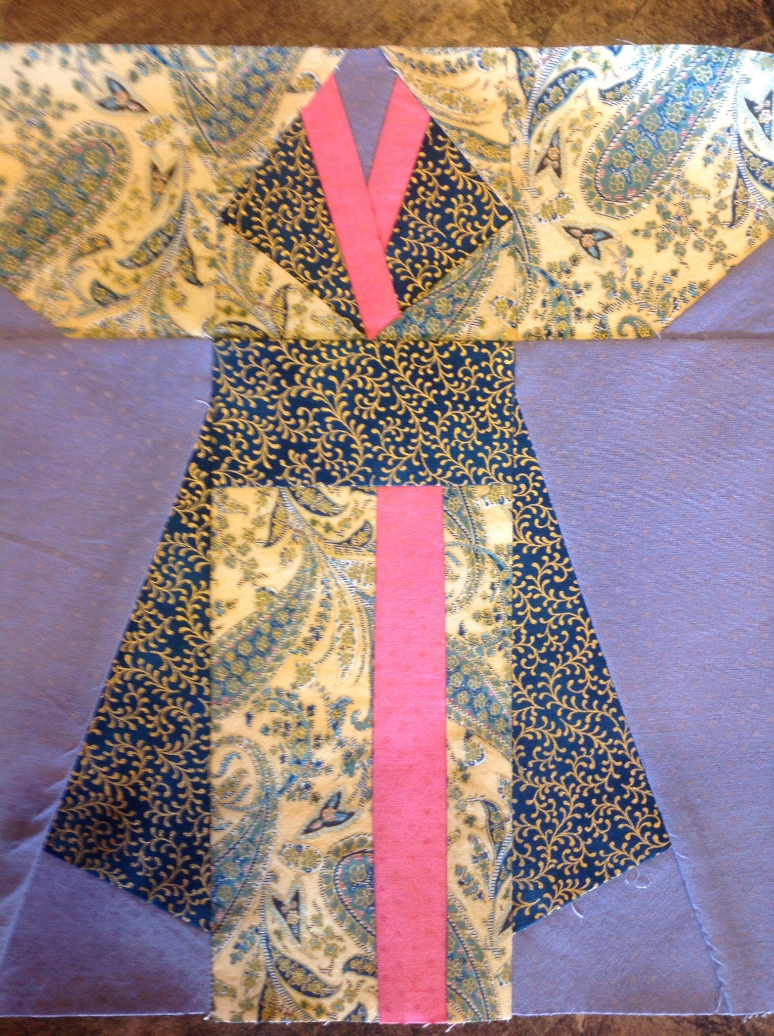 Paper piece kimono quilt block | Quilts | Pinterest | Nähen auf ...