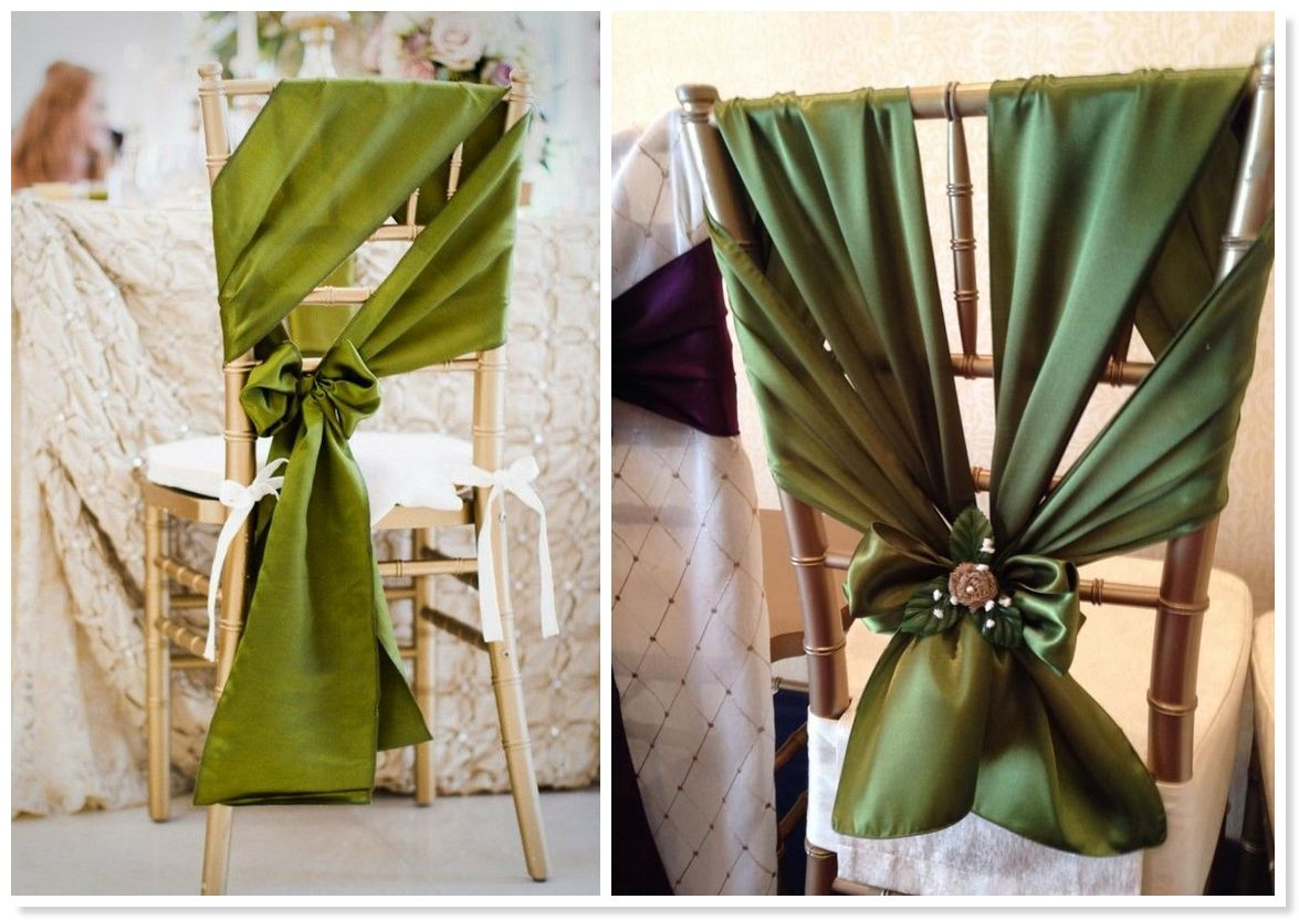 Chair sashes styles - 2014 Wedding Trends Top 10 Unique Chair Sash Styles