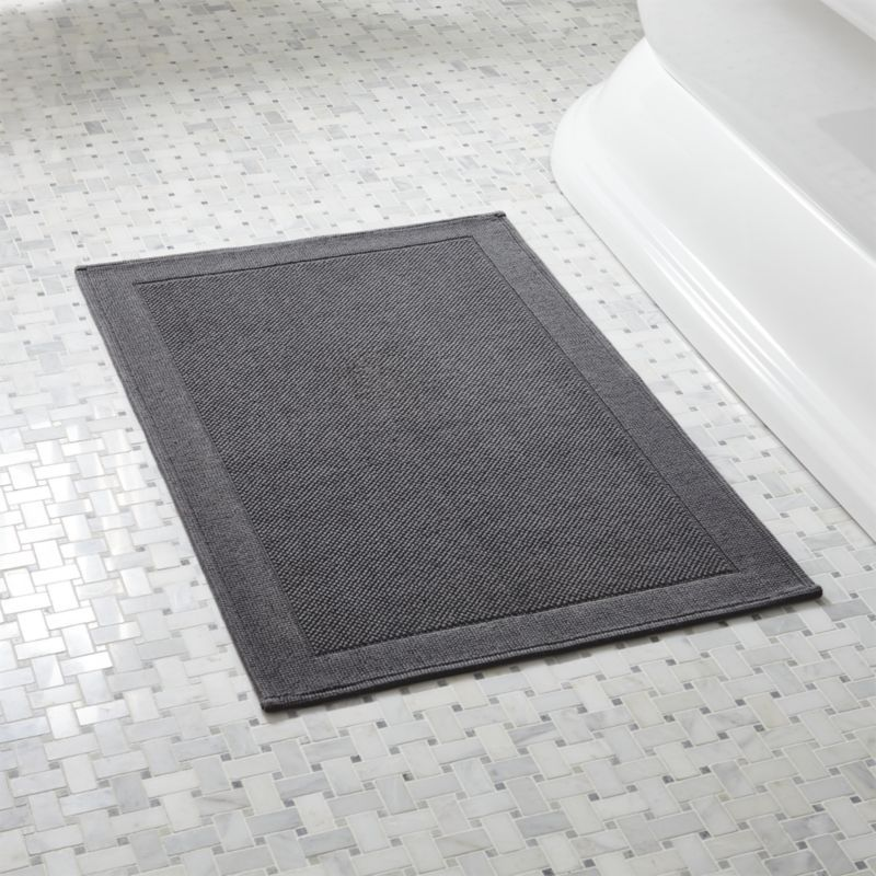 Westport Grey Bath Rug Grey Baths Bath Rugs And Crates - Microfiber bathroom rugs for bathroom decorating ideas