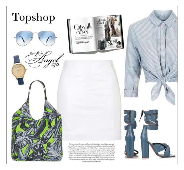 """""""Topshop #3 - Fashion"""" by biange ❤ liked on Polyvore featuring Topshop and Ray-Ban"""