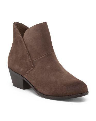 5b8517d8509 Leather Zeus Bootie - Boots - T.J.Maxx | My Style | Boots, Shoe ...