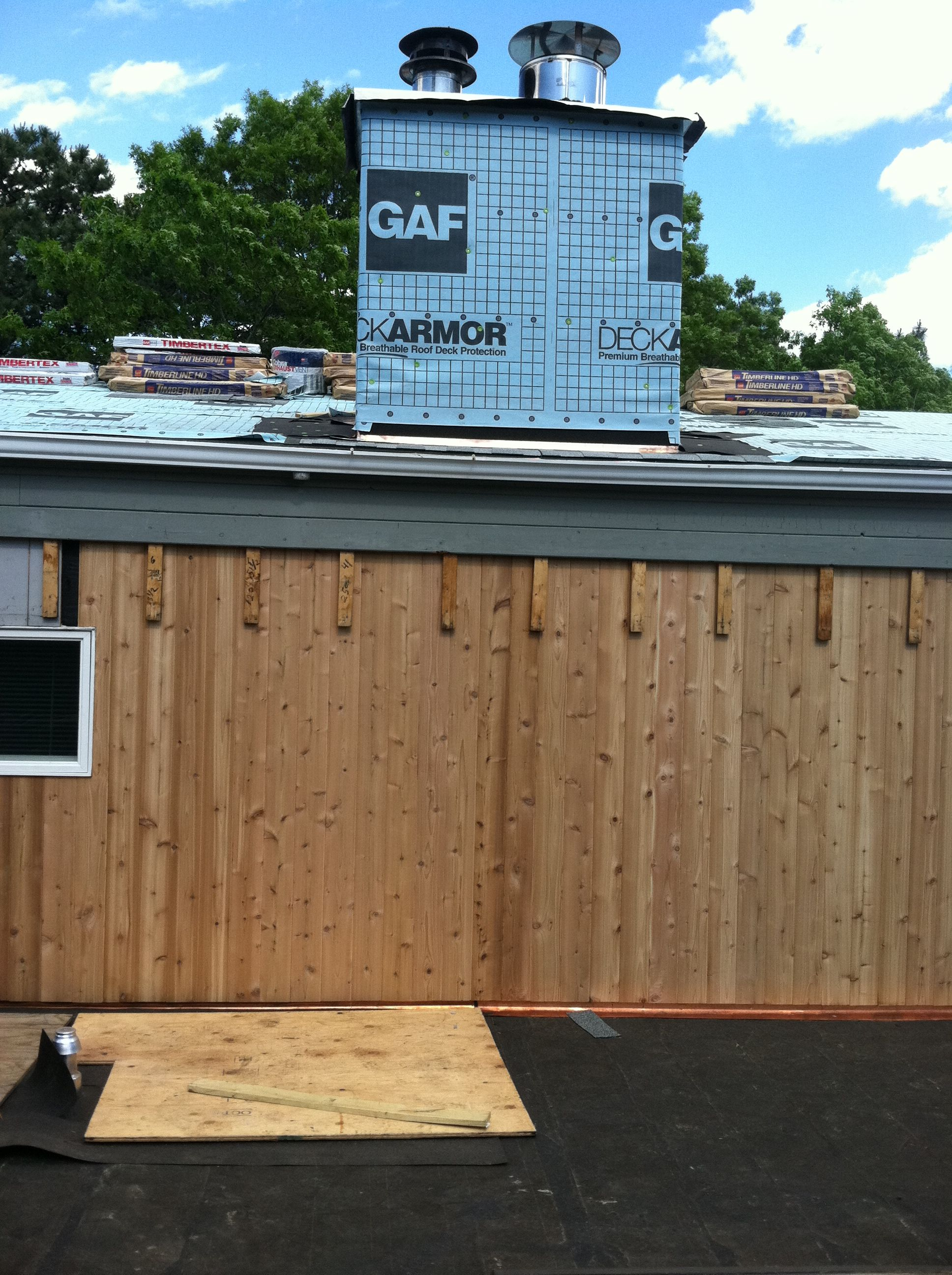 Installation Of New Copper Flashings And Cedar Siding Long Island With Images Roof Installation Roof Repair Cedar Siding