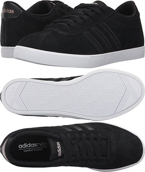 adidas neo women's courtset w scarpa, black / nero / rame metallico.