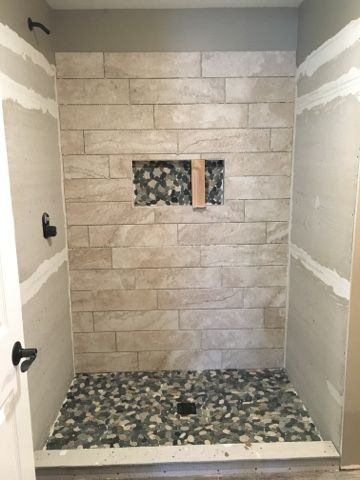 6x24 Shower Tile Building On Love Bathroom Progress
