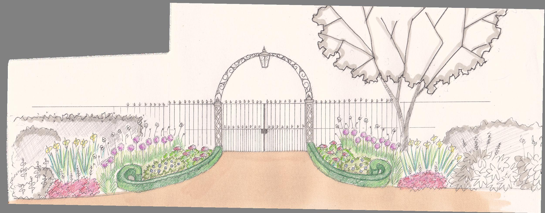 Park Entrance Sketch Garden Design Design Sketch Design