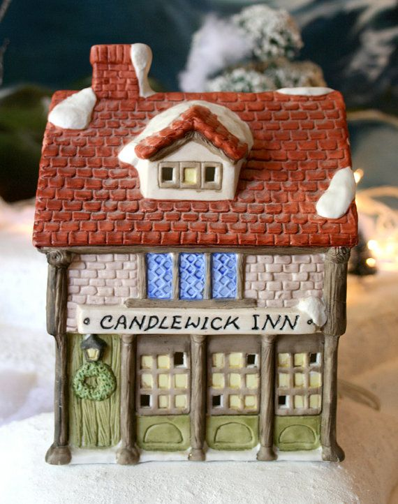Lit Ceramic House For Xmas Village