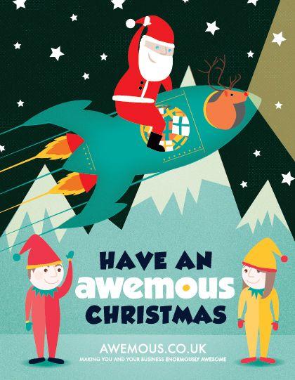 Corporate Christmas Card Illustration Design Commission Christmas Card Illustration Business Christmas Cards Corporate Christmas Cards