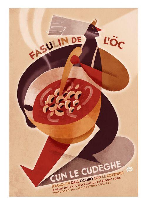 """Fasulin de l'öc cun le cudeghe - Pizzighettone"" by Riccardo Guasco"