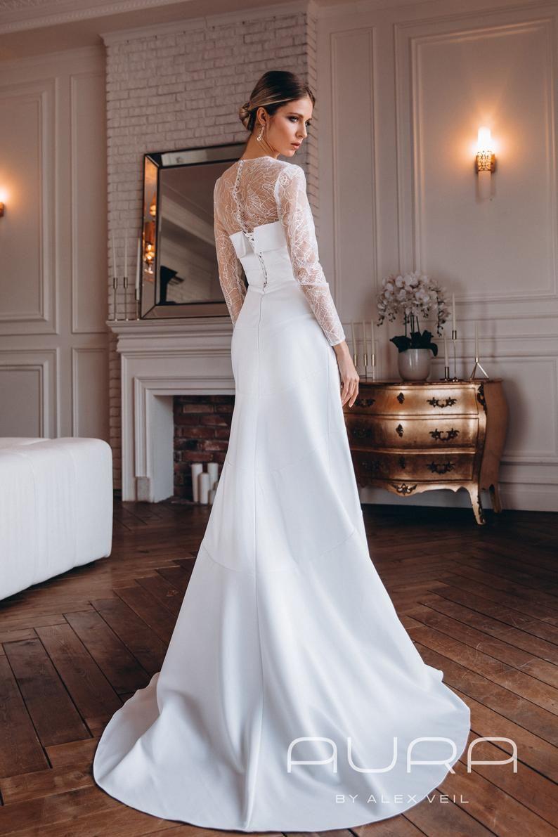 Mermaid Wedding Dress Odri With Fitted Lace Bolero Wedding Dresses Mermaid Wedding Dress Simple Elegant Wedding Dress [ 1191 x 794 Pixel ]