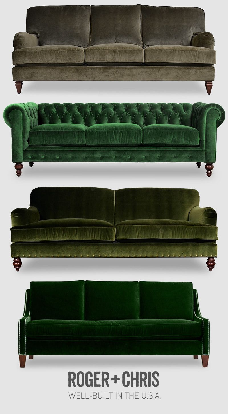 Green Velvets Furniture Roger Chris More Wohn Mobel