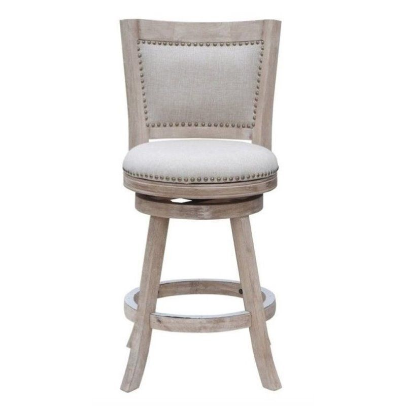 Stupendous Bowery Hill 24 Swivel Counter Stool In Creme Wash In 2019 Caraccident5 Cool Chair Designs And Ideas Caraccident5Info