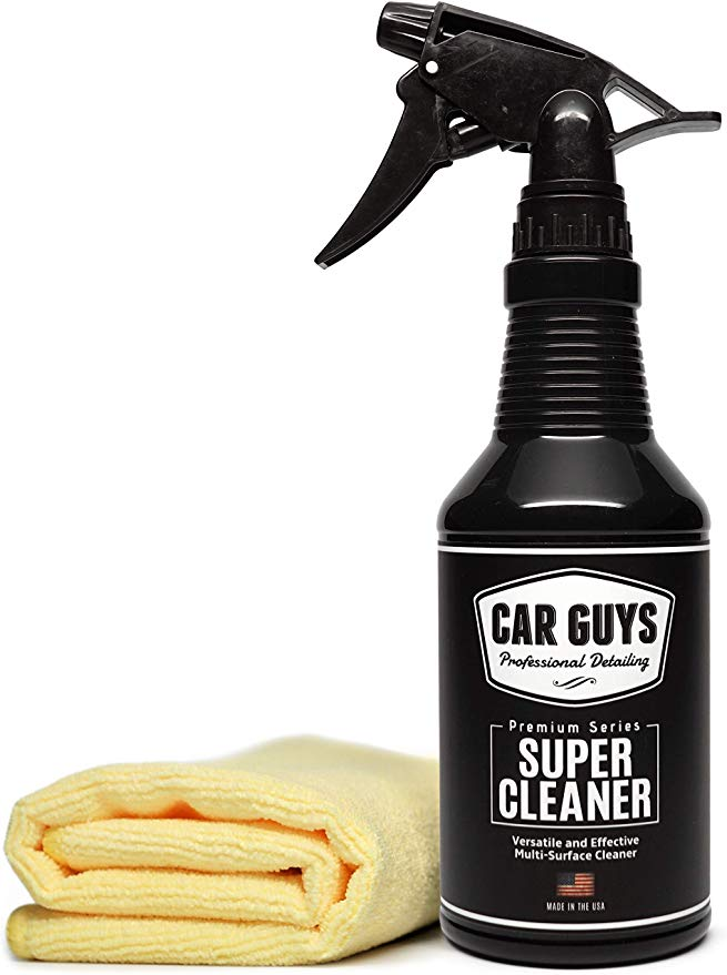 Amazon Com Carguys Super Cleaner Effective All Purpose Cleaner Best For Leather Vinyl Carpet Upholstery Plas All Purpose Cleaners Leather Vinyl Cleaning