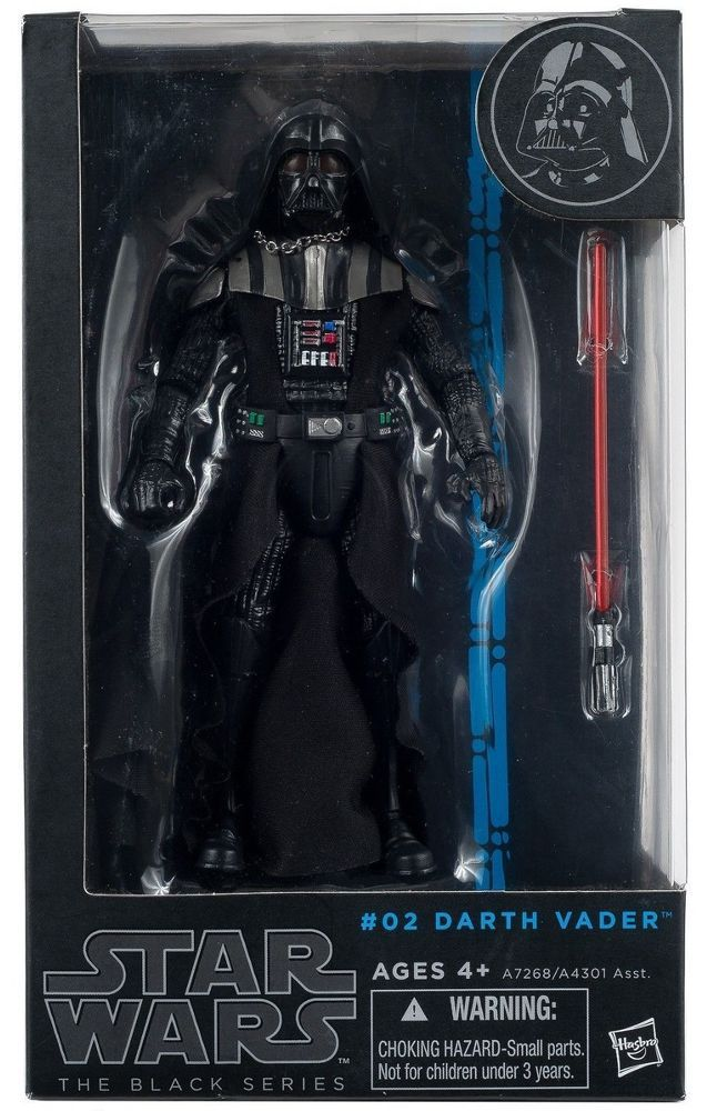 """In STOCK Hasbro Star Wars The Black Series #02 /""""Darth Vader/"""" 6 In Action Figure"""