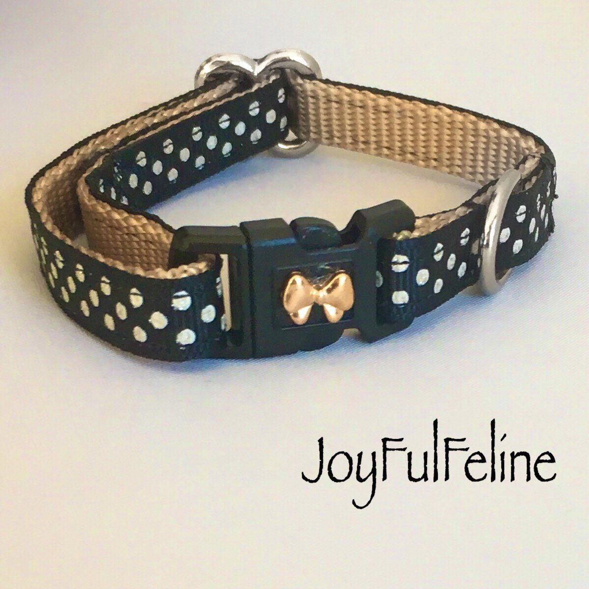 Excited To Share This Item From My Etsy Shop Black Polkadot Cat Collar Or Cat Harness Breakaway Buckle Safety Cat Col Kitten Collars Cat Harness Cat Colors