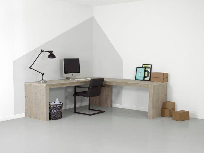 Wohnideen Büro Im Wohnzimmer bauholz eckschreibtisch adrian wohnzimmer schlafzimmer wohnideen