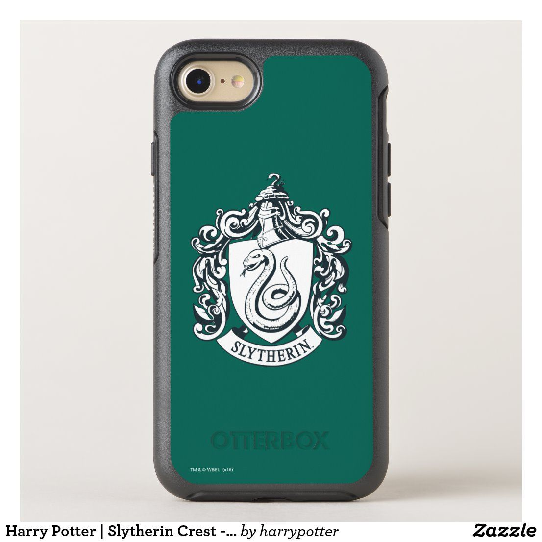 Harry potter slytherin crest black and white otterbox
