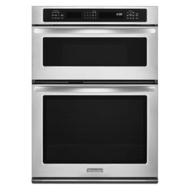 Elegant Lowes KitchenAid 27 In Self Cleaning Convection Microwave Wall Oven Combo  (Stainless