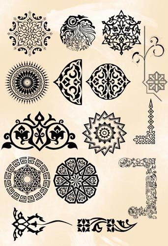 grey persian brush pack 03 pattern ornament pinterest teppich kn pfen querbeet und kn pfen. Black Bedroom Furniture Sets. Home Design Ideas