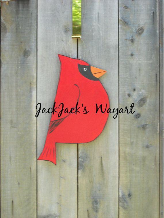 Cardinal door hanger Red bird door art Bird by JackJacksWayart & Cardinal door hanger Red bird door art Bird by JackJacksWayart ...