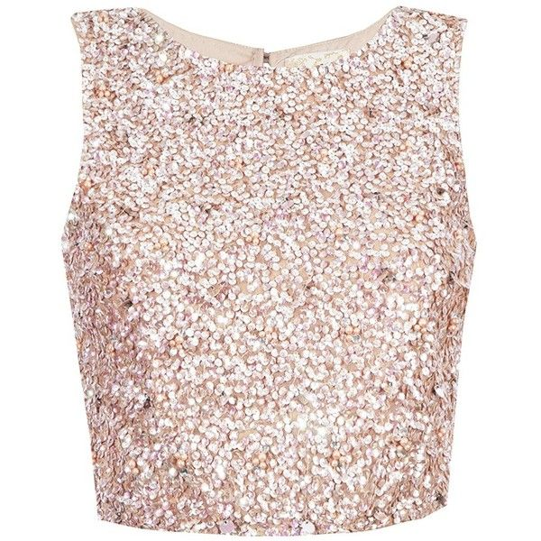 7878c3f74c933 LACE BEADS PICASSO PINK SEQUIN TOP