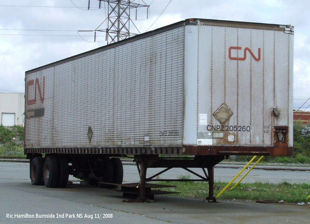 CNPZ 205260 40' Trailer Canadian National Railway