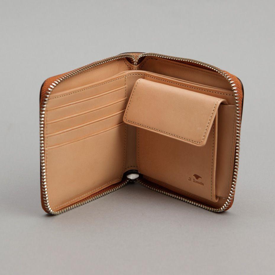 Bi Fold Zip Wallet (Chestnut)