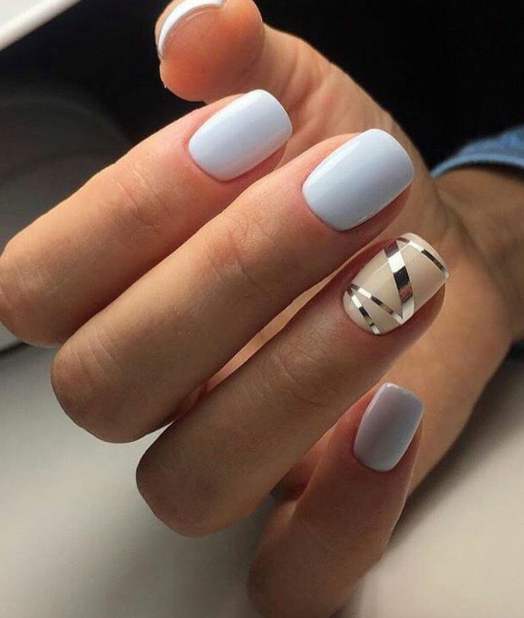 Blue baby nails designs forecasting to wear for everyday in 2019