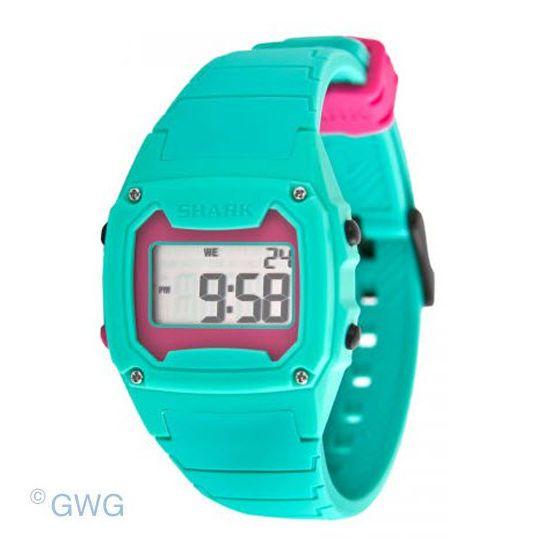 Freestyle Shark Classic LCD 102281 Cyan Silicone Unisex Digital Watch