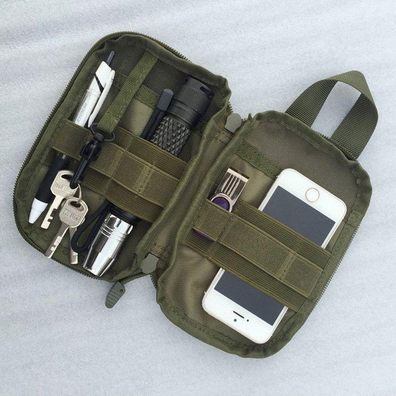 1000D 나일론 전술 가방 야외 Molle 군사 허리 패니 팩 휴대 전화 케이스 키 미니 도구 파우치 스포츠 가방