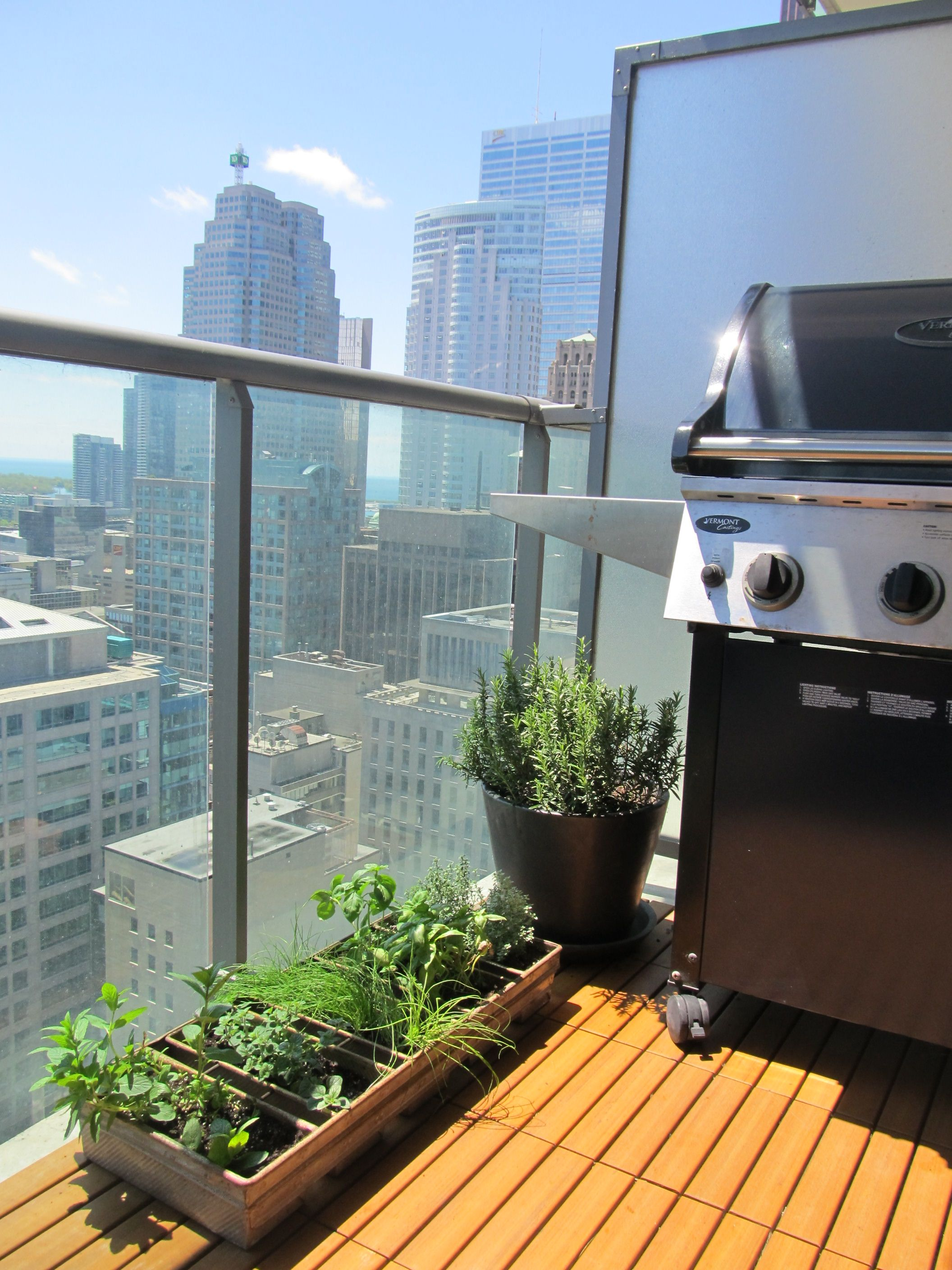 Balcony Herbs DIY Pinterest