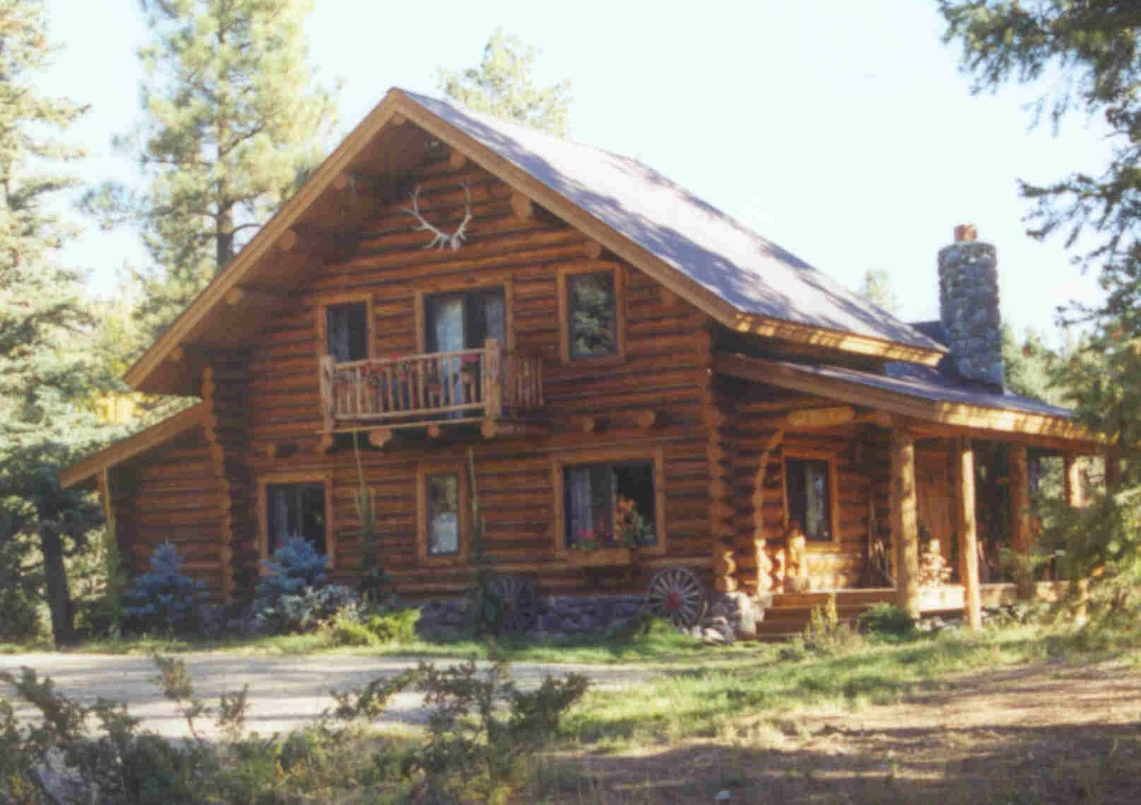 This log cabin is nice