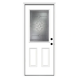 30 X 80 Entry Way Doors With Decorative Glass At Lowes Com Search Results Entry Doors Fiberglass Entry Doors Primed Doors