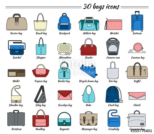 Pictures Of Different Types Of Bags Google Search Types Of Bag Bags Purse Styles