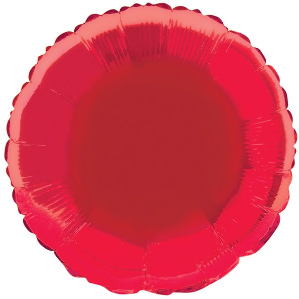 Red Round Foil Balloon Sold Single. Size: 18 Inch (45.7cm). Material: Foil. Shape: Round. Requires Helium Gas Inflation. Great for all Themed Parties and Ki