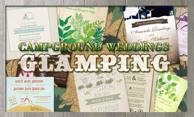 party simplicity campground glamping wedding invitation design challenge camping wedding ideas - Camping Wedding Invitations