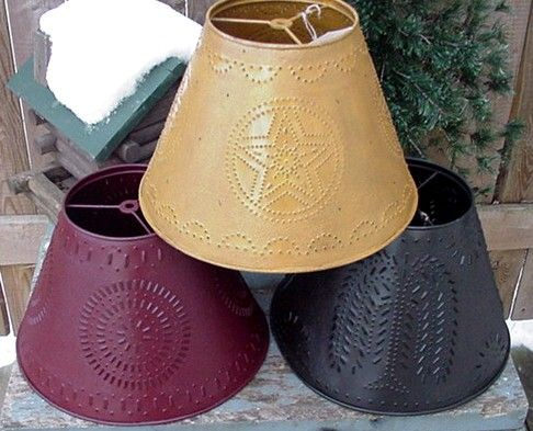 How To Make A Primitive Lamp Shade | Tin Lamp Shades   What Is Seen Cannot