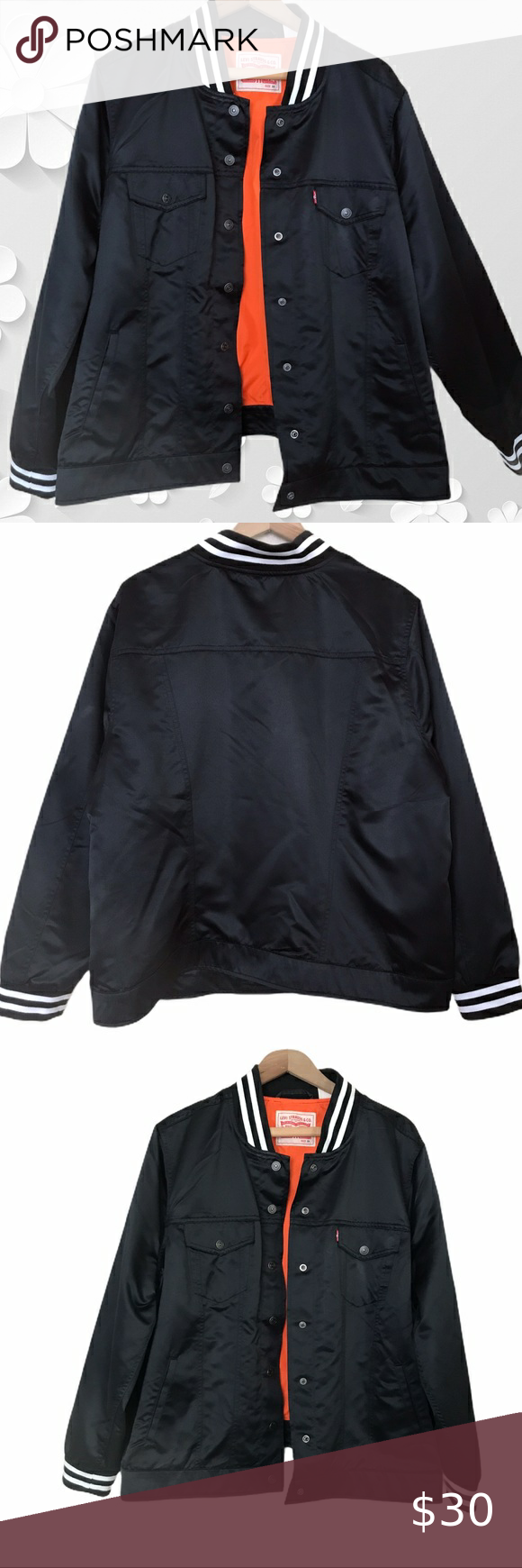 Levi S Black Bomber Jacket Black Bomber Jacket Size 2x Preowned In Good Condition Pit To Pit 25 Sho Bomber Jacket Black Bomber Jacket Black Bomber [ 1740 x 580 Pixel ]