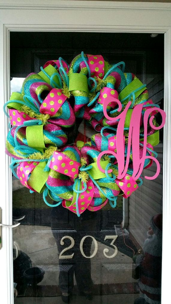 Photo of 40 ideas for the initial / monogram of the front door