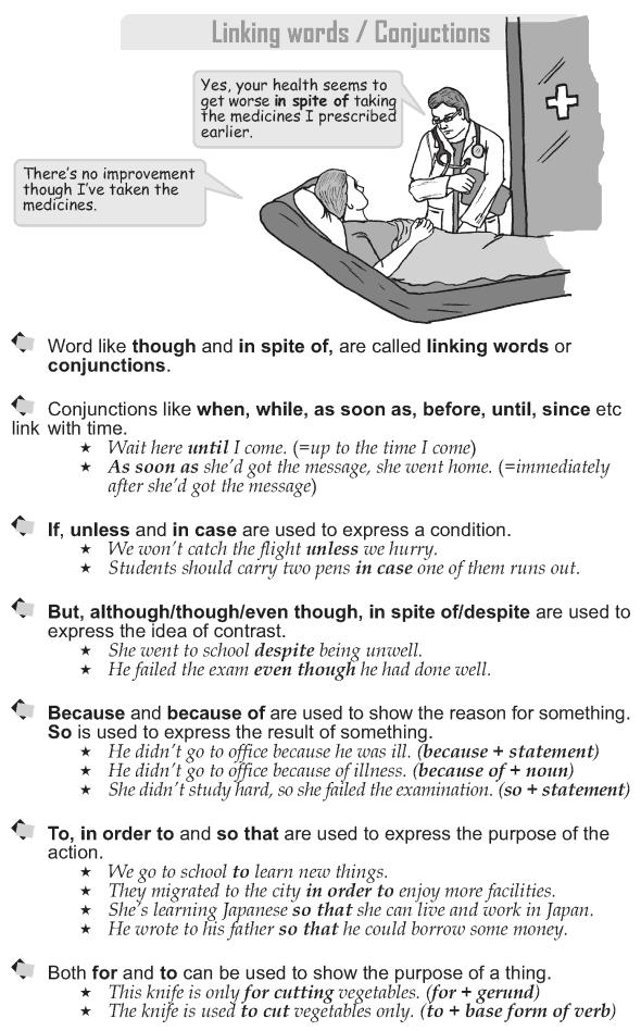 Grade 9 Grammar Lesson 42 Linking words Conjunctions (1) | Grade 9 ...