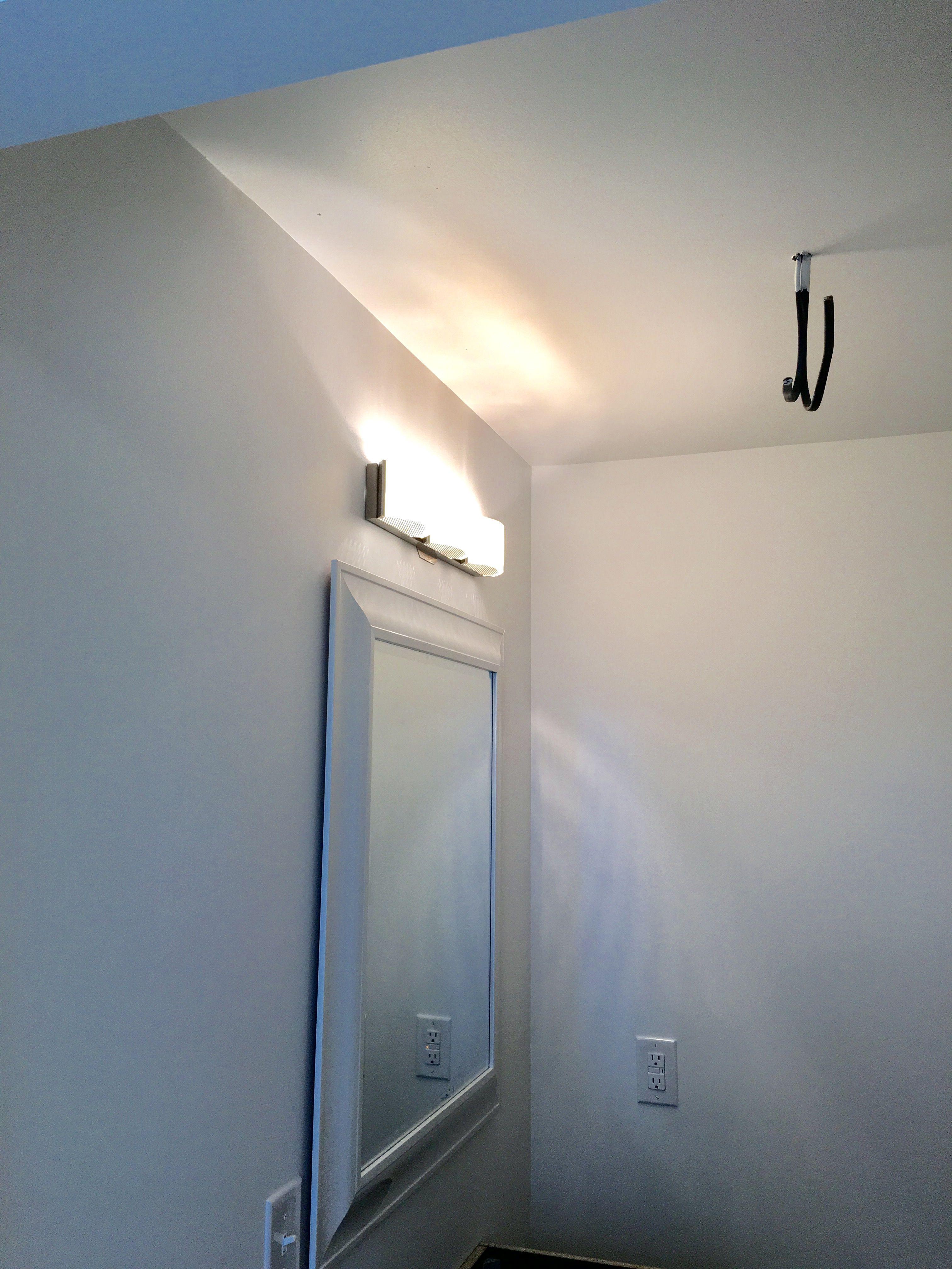 Bathroom Led Light Fixture  Amazon  And White Framed